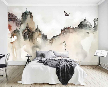 Beibehang 3d wallpaper Nordic City Architecture Abstract Art 3D Living Room TV Backdrop wallpaper for walls 3 d papel de parede wallpaper city guide milan 2014