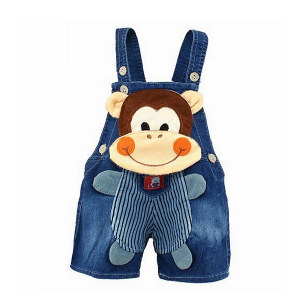 6M-3T Baby Boys Girls Denim Short Overalls For Summer Infant Toddler Kids Jeans Rompers Cute Monckey Jumpsuit For Child Clothes
