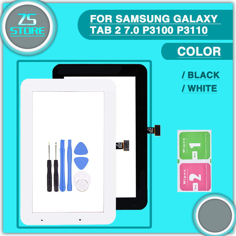 New P3100 P3110 Touch panel For Samsung Galaxy Tab 2 7.0 P3100 P3110 Touch Panel Digitizer Sensor Glass Lens кабель samsung m190s p3100 p3110 p5100 p5110 p6210 p6200