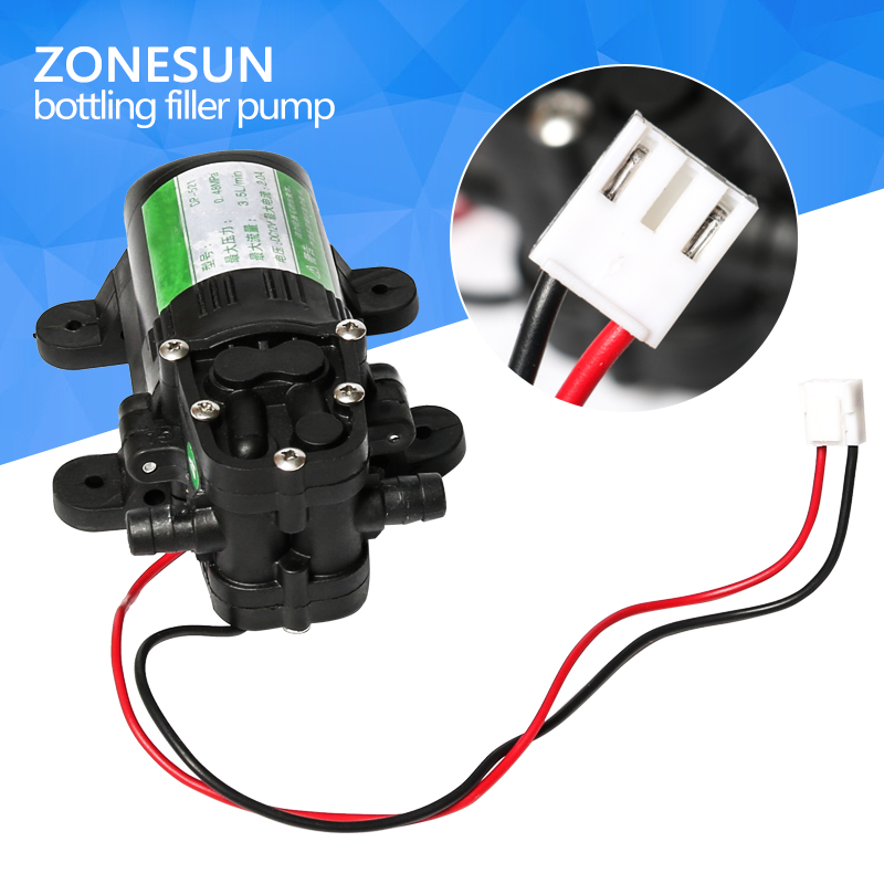 ZONESUN pump for liquid filling machine GFK-160 zonesun pneumatic a02 new manual filling machine 5 50ml for cream shampoo cosmetic liquid filler