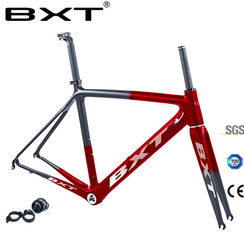 2019 New T800 Carbon Road Bike Frame UD BSA Di2 Mechanical Frameset Carbon Road Bicycle 50 53 55 Cm Free Delivery