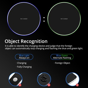 Image 5 - FONKEN Wireless Charger Universal Qi 10W Fast Wireless Charge Pad Ultra Thin USB Charging Base for Samsung Huawei Mobile Phone