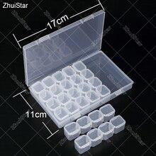 28 слотов Алмазная вышивка коробка алмазов картина Аксессуар Чехол прозрачные пластиковые бусины Дисплей хранения Коробки вышивки крестом инструменты oo