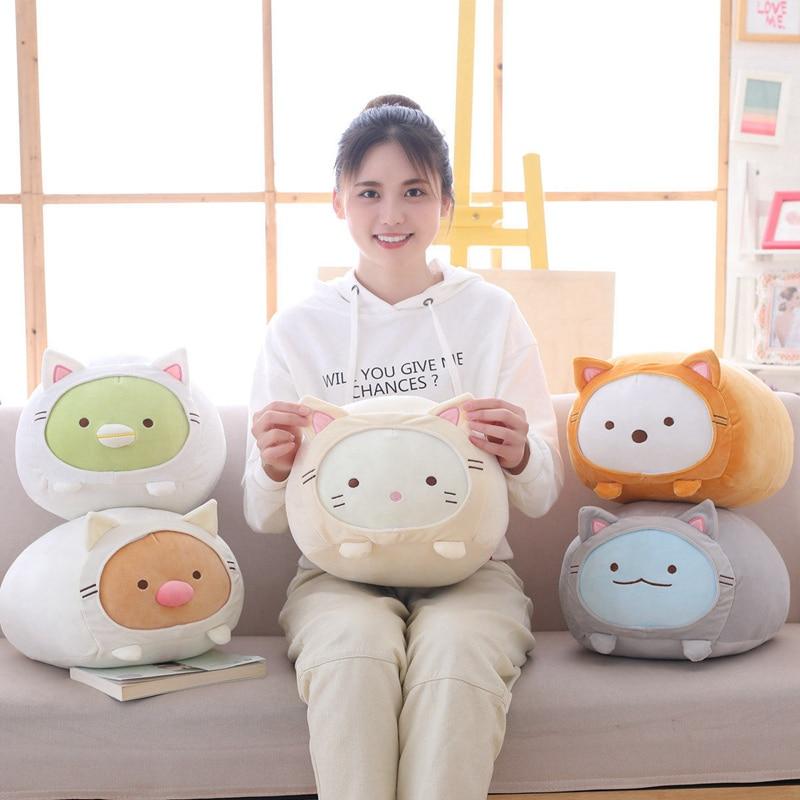 1 PC 30*55 CM grande taille Animation japonaise Sumikko Gurashi Super doux jouets en peluche oreiller san-x coin Bio dessin animé mignon enfants cadeau