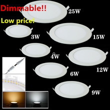 25 Watt Round LED Ceiling Light Recessed Kitchen Bathroom Lamp AC85-265V LED Down light Warm White/Cool White Free shipping