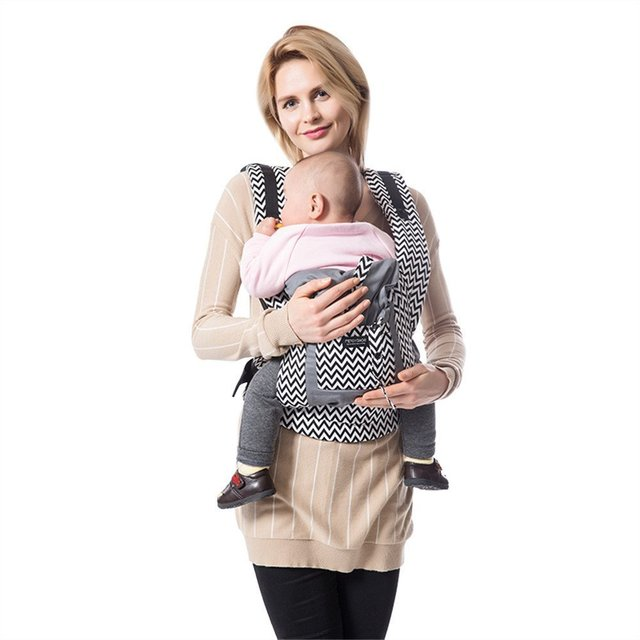 Ergonomic Baby Carrier Backpack Organic Cotton Baby Sling Wrap Kids