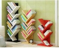 A 9 Layers Tree Shape Wooden Bookshelf Bookcase Books Display Shelf Storage Rack Stable Bookcase Heavy Bearing 132cm Height
