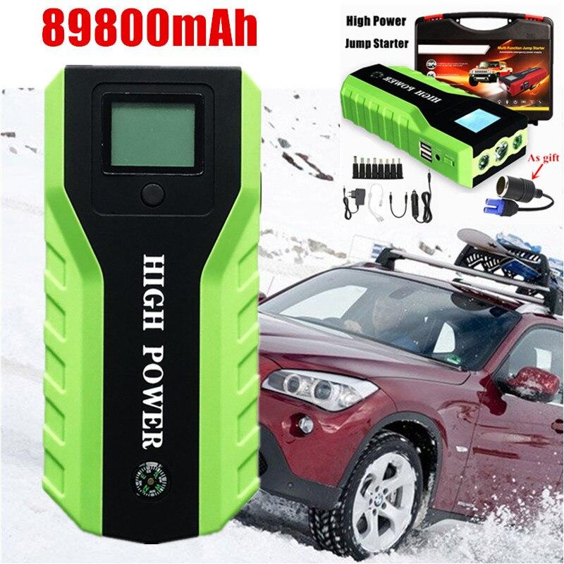 Chargeur de voiture multifonction 89800mAh Diesel démarreur de voiture 12V 600A haute puissance chargeur de voiture pour voiture Booster Buster