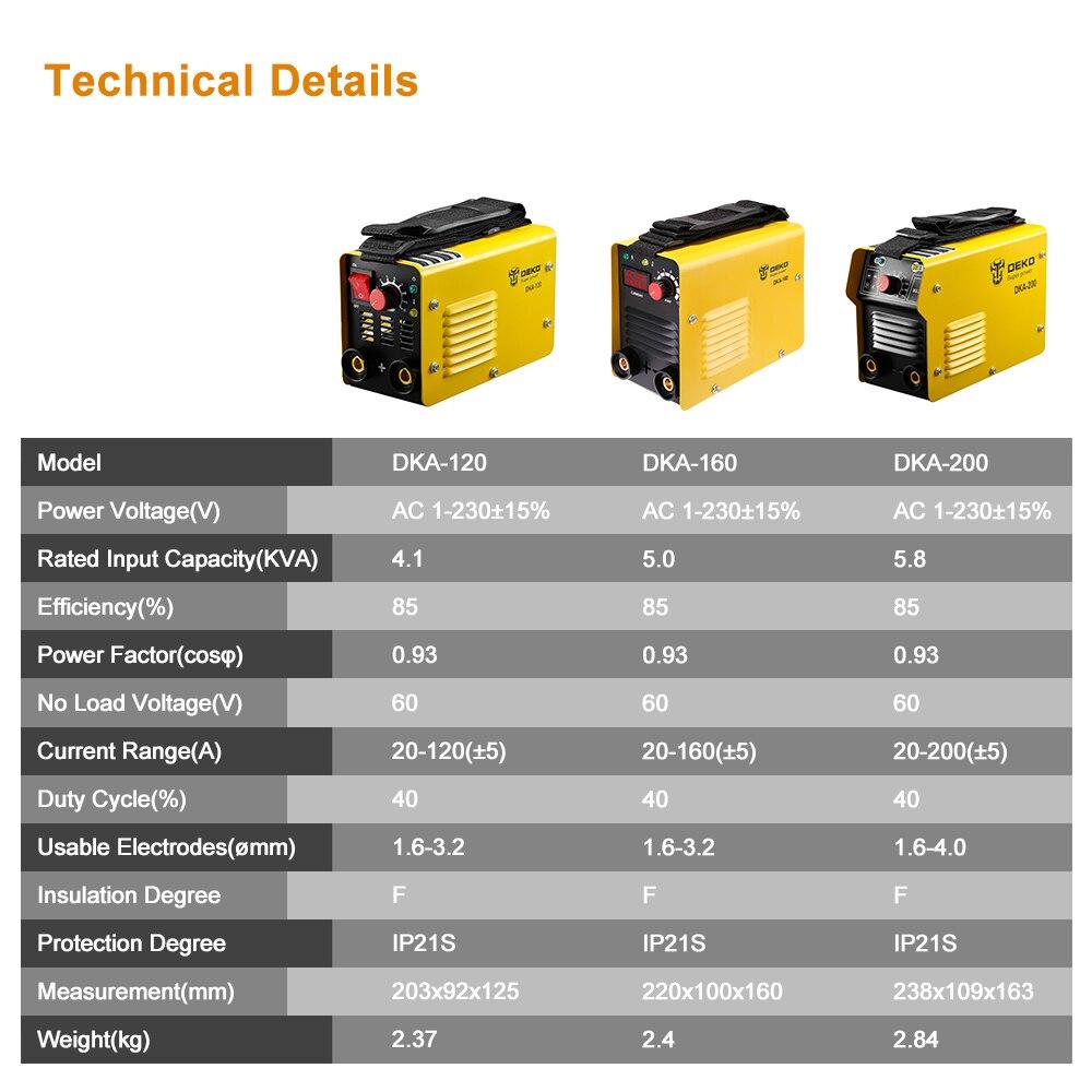 DEKOPRO 220V Inverter  Arc Electric Welding Machine MMA Welder For Soldering Welding And Electric Working