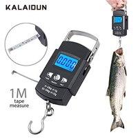 KALAIDUN 50 кг/110LB 10 г цифровые весы висит крюк шкала ЖК-дисплей Дисплей электронный Портативный для рыбалки Чемодан взвешивания безмен