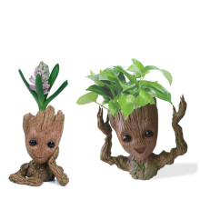 цены Tree Man baby grootted Guardians Of The Galaxy Flowerpot Action Figures Cute Model Toy Pen Pot Best Christmas Gifts Kids Hobbies