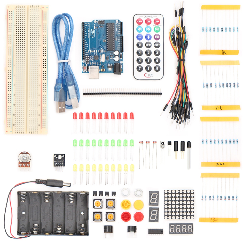Starter Kit For UNO R3 Upgraded Version Learning Basic Suite For Uno R3 Board DIY Project 1 set starter kit basic learning suite for uno r3 kit upgraded stepper motor led jumper wire kits for arduino with retail box