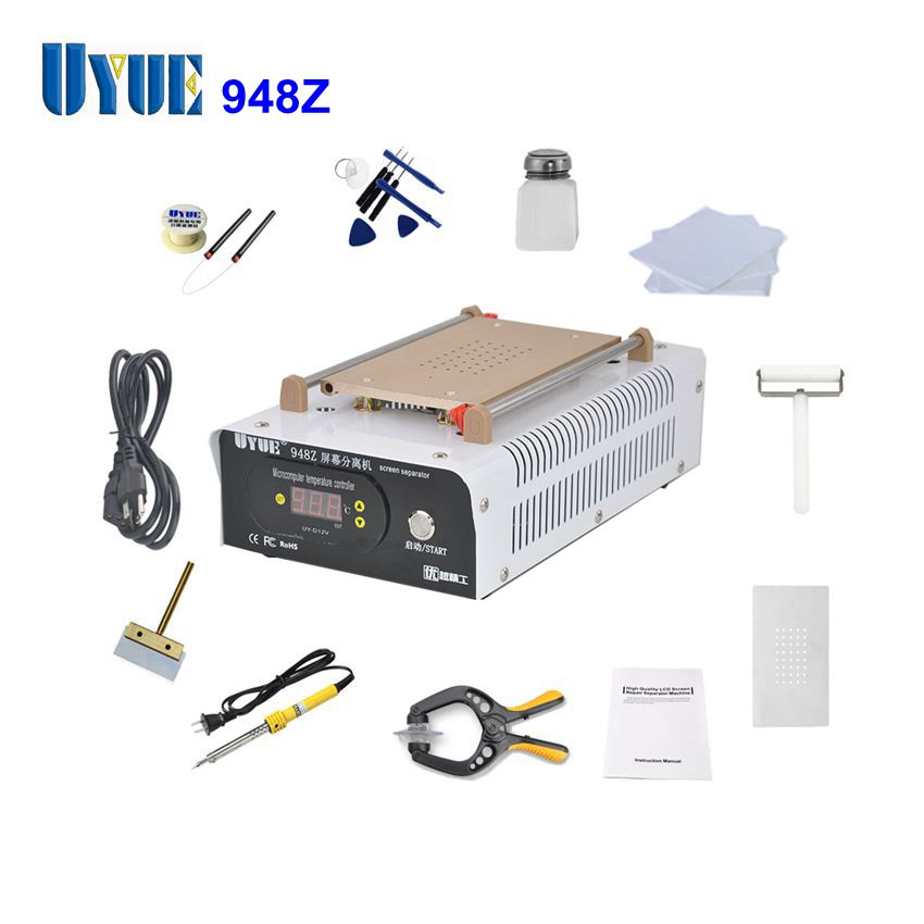 UYUE 948Z 110/220V LCD Separator Machine Screen Repair Machine Kit for iPhone Samsung Build-in Air Pump Vacuum with Tools 2sets lot lcd separator machine 950 v 3 220v 110v with built in air pump free txa to europe
