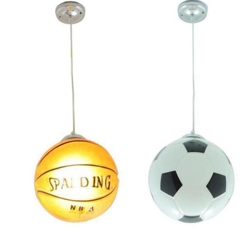 Football basket Lustre moderne éclairage enfants chambre Loft Lustre lustres en verre E27 pour décor luminaires