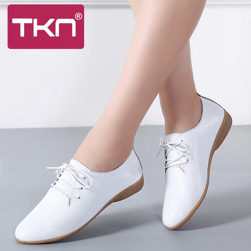 a07c8befb8 TKN 2019 Spring women oxford shoes ballerina flats shoes women genuine  leather shoes moccasins lace up