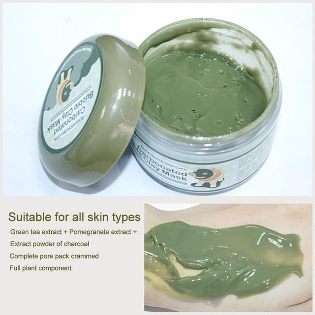 BIOAQUA Kawaii Black Pig Carbonated Bubble Clay Face Mask Facial Mask Cleaning Whitening Skin Moisturizing Anti Aging Skin Care 4