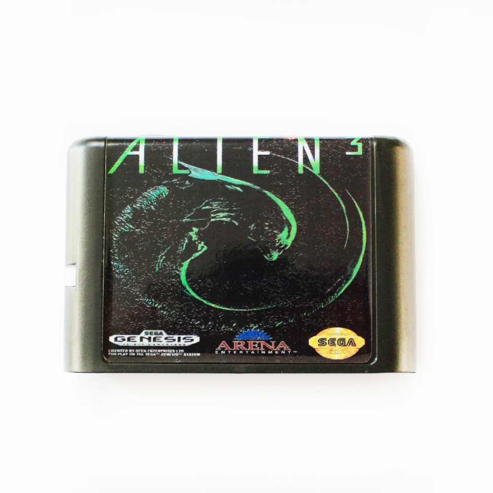 Alien 3 16 bit MD Game Card For Sega Mega Drive For SEGA Genesis