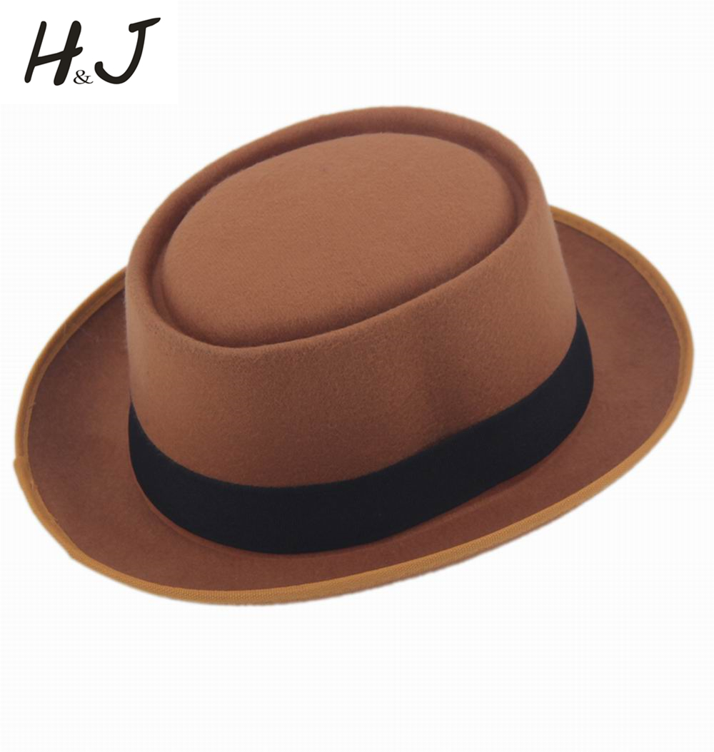 590dc5bfe52a6 2016 New Autumn Winter Men s Feminino Warm Fedora hat GentlemanFelt Pork Pie  Panama Crushable Top Hat-in Fedoras from Apparel Accessories on  Aliexpress.com ...