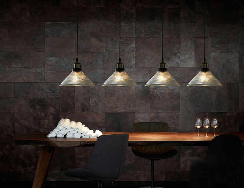Nuevo candelabro moderno Vintage Industrial Retro cristal lámparas colgantes luz de techo decoración del hogar Luz de araña B133