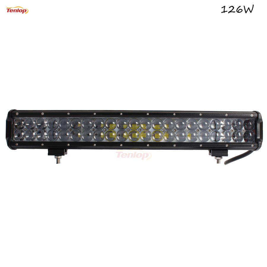 20 Inch 126W Light Bar With 4D Lens For Wrangler F150 Offroad SUV 4*4 Truck Boat