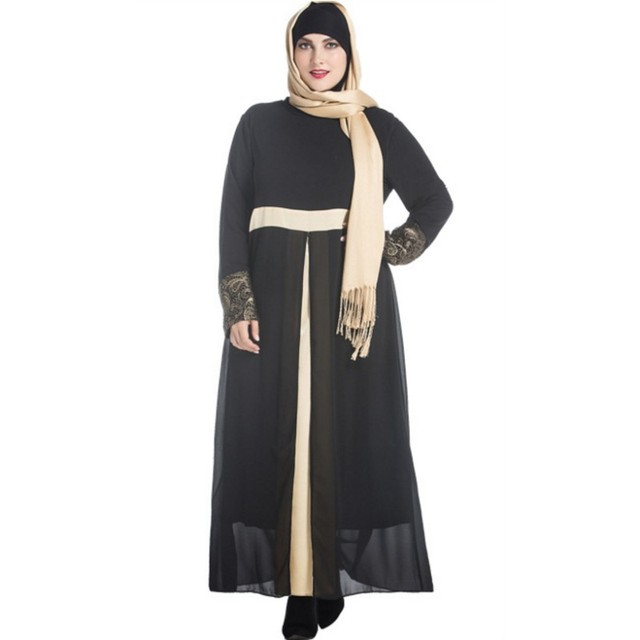 e074b7defde YSMARKET Lace Plus Size Robe Dress Sexy Femme Maxi Long Sleeve Arabic Abaya  Turkish Islamic Women elegant Muslim Dresses Y1007