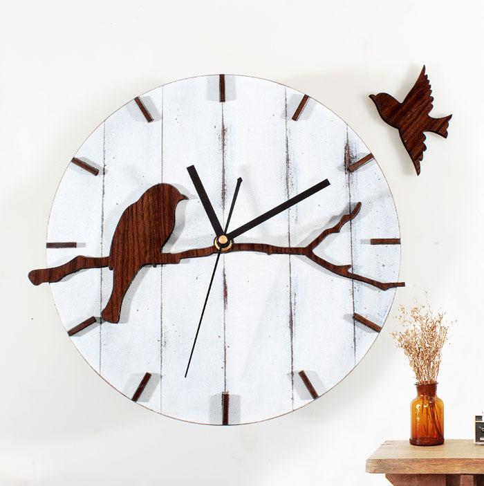 Tun Alten Lndlichen Die Alte Weisen Schne Vgel Holz Wand Uhr Einsatz Das Wohnzimmer