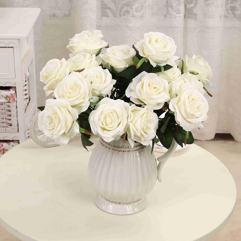 1 μπουκέτο τεχνητό λουλούδι 9 κεφαλές - Προϊόντα για τις διακοπές και τα κόμματα - Φωτογραφία 4