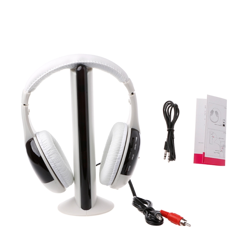 New 5 in 1 Hi-Fi Wireless Headset Headphone Earphone for TV DVD MP3 PC 914 5 cool hi fi wired headset w microphone for xbox360 black 110cm