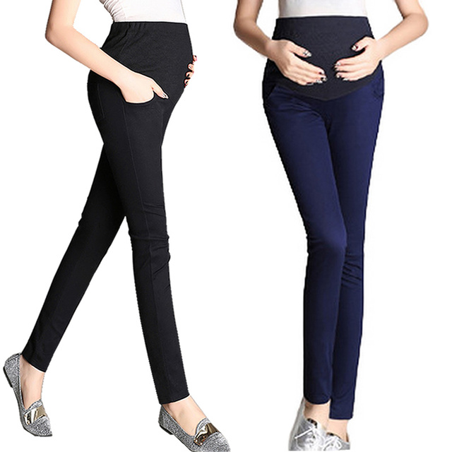 a45475841492f Pregnant Women Work Pants Stretchy Maternity Skinny Ankle Trousers Slim  High Waisted Dress Maternity Slacks Pregnancy Trousers