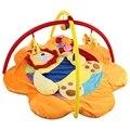 95x50 cm de Algodão de Alta Qualidade Bebê Macio Enchimento Protege Jogo Colorido Leão Mat Rastejando Cobertor Ginásio com Quadro Chocalho brinquedo
