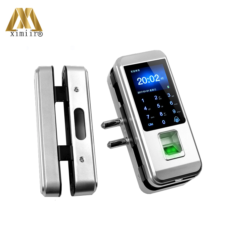Smart Keyless Fingerprint Door Lock Biometric Lock With Card Password For Home Office Frameless Glass Door
