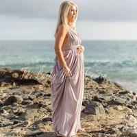 Summer Beach Maternity Evening Dress Chiffon Backless Maix Women Prom Party Dresses For Pregnant Women Kaftan