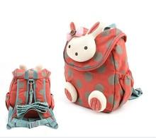 Дети детский сад сумка детская одежда с рисунком из мультфильма дизайн животных дети мальчики девочки 3D милый кролик школьная сумка анти-потерянный рюкзак SC013