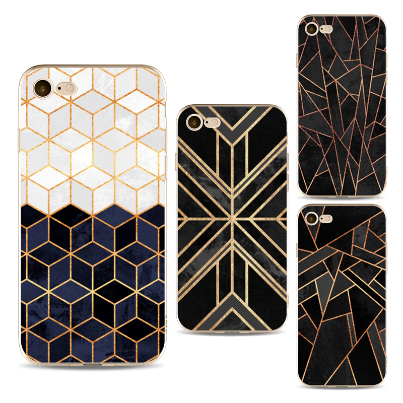 Colorful lattice phone cases For iphone 7 7 Plus Case Soft TPU Grid Phone Back Capa fundas for iphone 6 6s plus