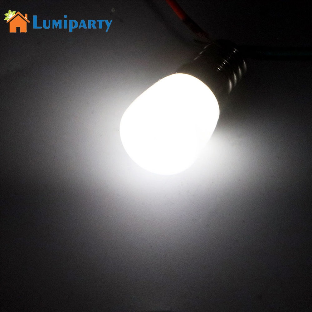 LumiParty Hight Bright AC 220V Mini E14 SMD2835 LED Blub Glass Lamp for Fridge Freezer Home New Style Chic Lighting