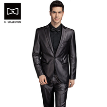 Tailor-made Men Dress Suit Blazer Slim fit Men Groom Wedding Suit Tuxedo 2 Pieces(Jacket+Pants)