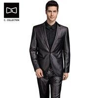 Tailor made Men Dress Suit Blazer Slim fit Men Groom Wedding Suit Tuxedo 2 Pieces(Jacket+Pants)