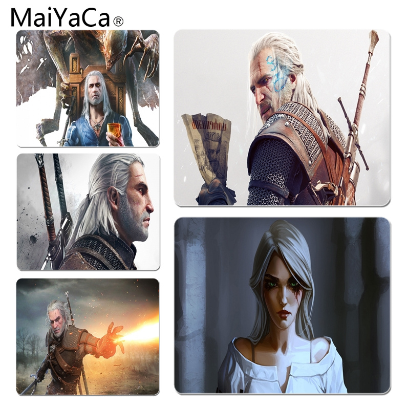 MaiYaCa New Printed The Witcher 3 Computer Gaming Mousemats Size for 180x220x2mm and 250x290x2mm Small Mousepad