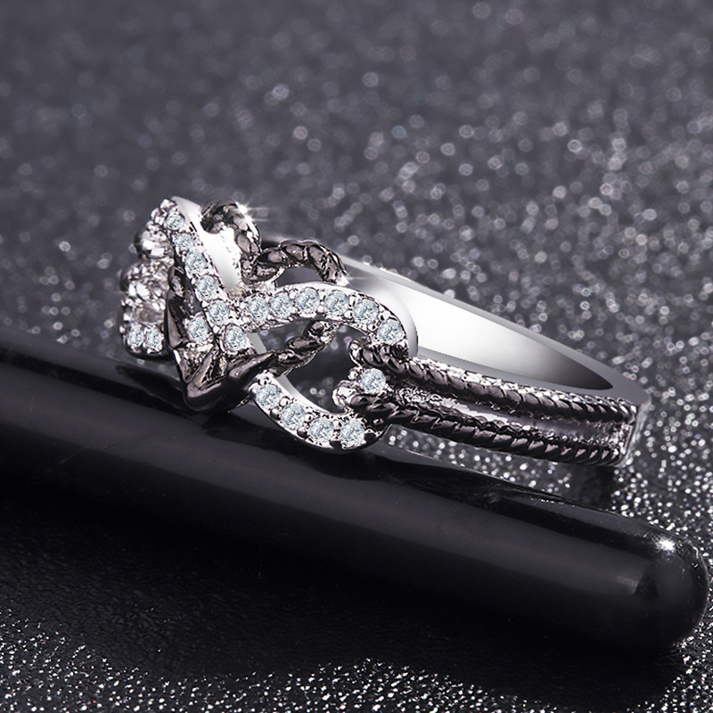 Love You Forever Promise Infinity Heart Ring 2