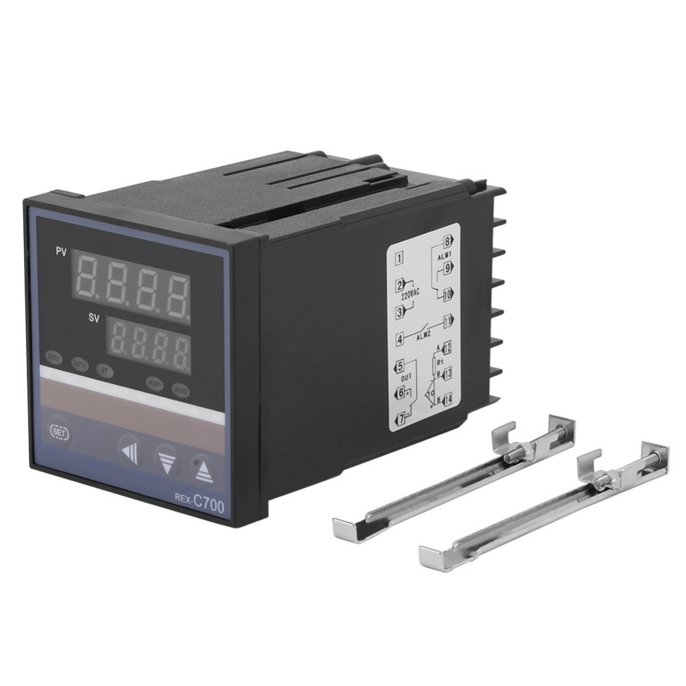 REX-C700 Digital PID Temperature Controller 0-400 Degree Thermostat Switch Thermocouple Input Relay Output AC 220V