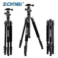 ZOMEI Q555 Professional Tripod for DSLR Camera Aluminum Stand Portable 360 Ball Head 1/4 Quick Release Plate Camera Accessories