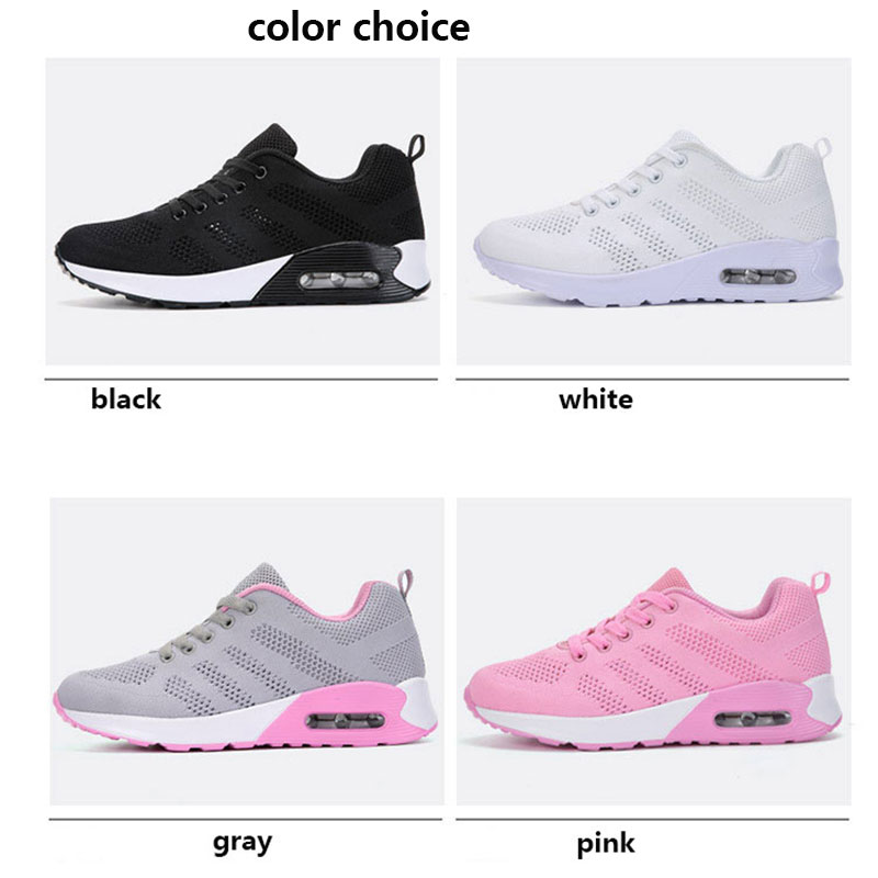 Black Sneakers Women 2018 Running Sports Shoes For Woman Breathable Mesh Lace-up Ladies Sport shoe shoes Outdoor Walking Shose