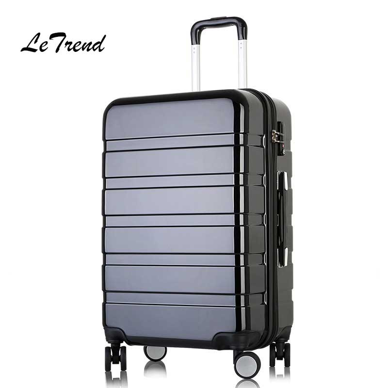 LeTrend Women Korea Rolling Luggage Spinner password Trolley Suitcase Wheels 20 inch Cabin Travel Bag Men TrunkLeTrend Women Korea Rolling Luggage Spinner password Trolley Suitcase Wheels 20 inch Cabin Travel Bag Men Trunk