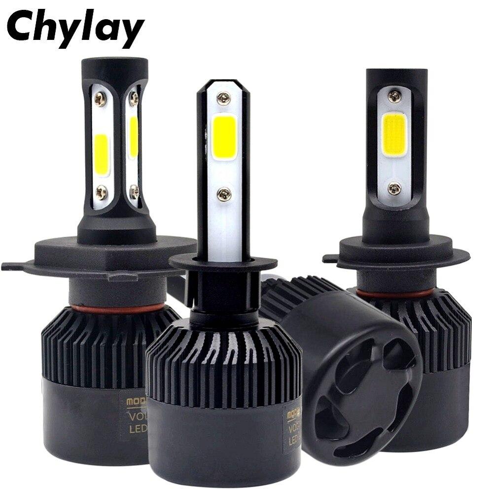 2 pièces H11 lampe à led S2 H7 led Ampoule H4 H1 H3 HB4 H8 HB3 9005 9006 881 Auto Phare De Voiture 72 W 8000LM 6500 k style de voiture