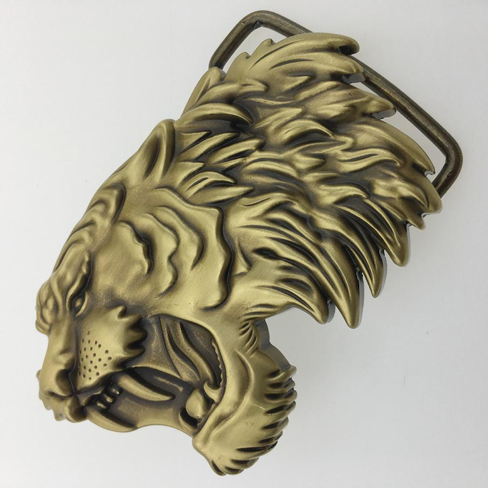 CUKUP 2018 DIY 3D Lion Head Brass Belt Buckles Chinese Style New Designer Brand Belts Buckle Zodiac Youth Wind 1pc Retail BRK029