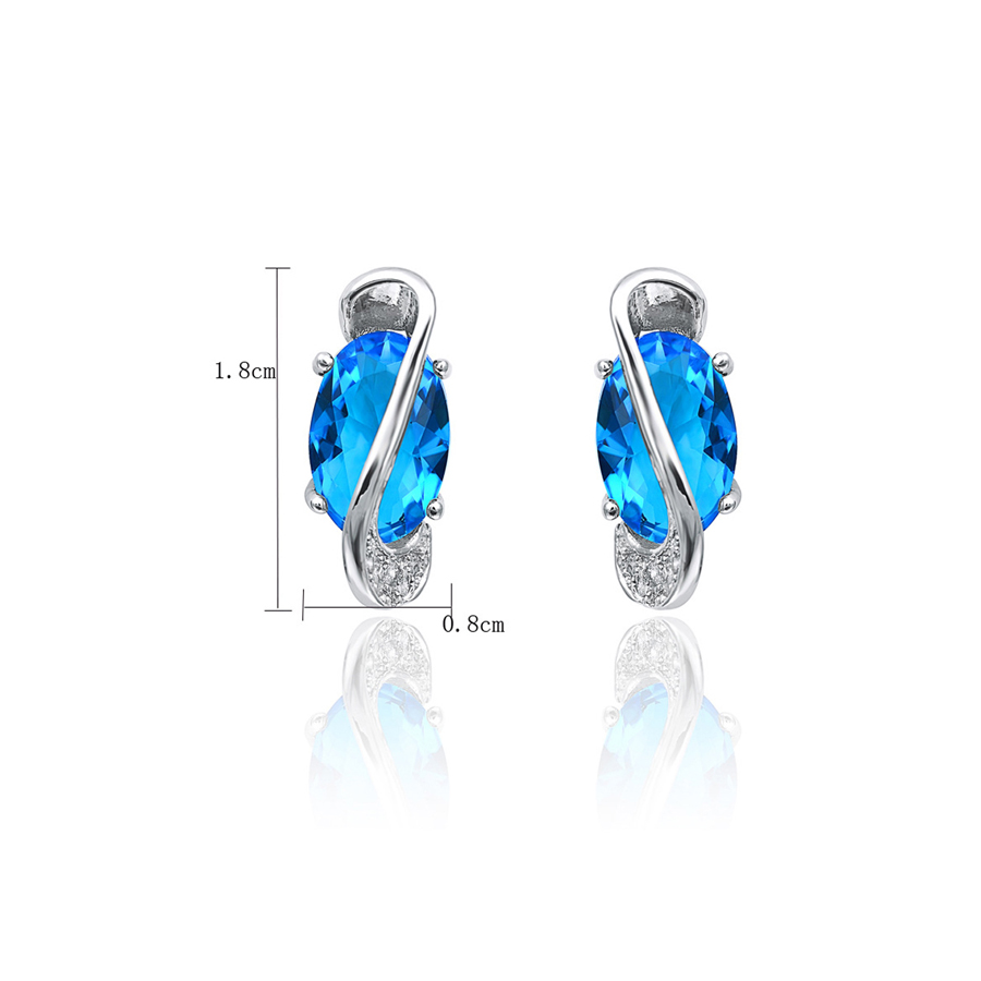 Fashion Crystal 925 Silver Jewlery Set 2016 Necklaces & Earrings Pendants Rings for Women Wedding Bridal 3