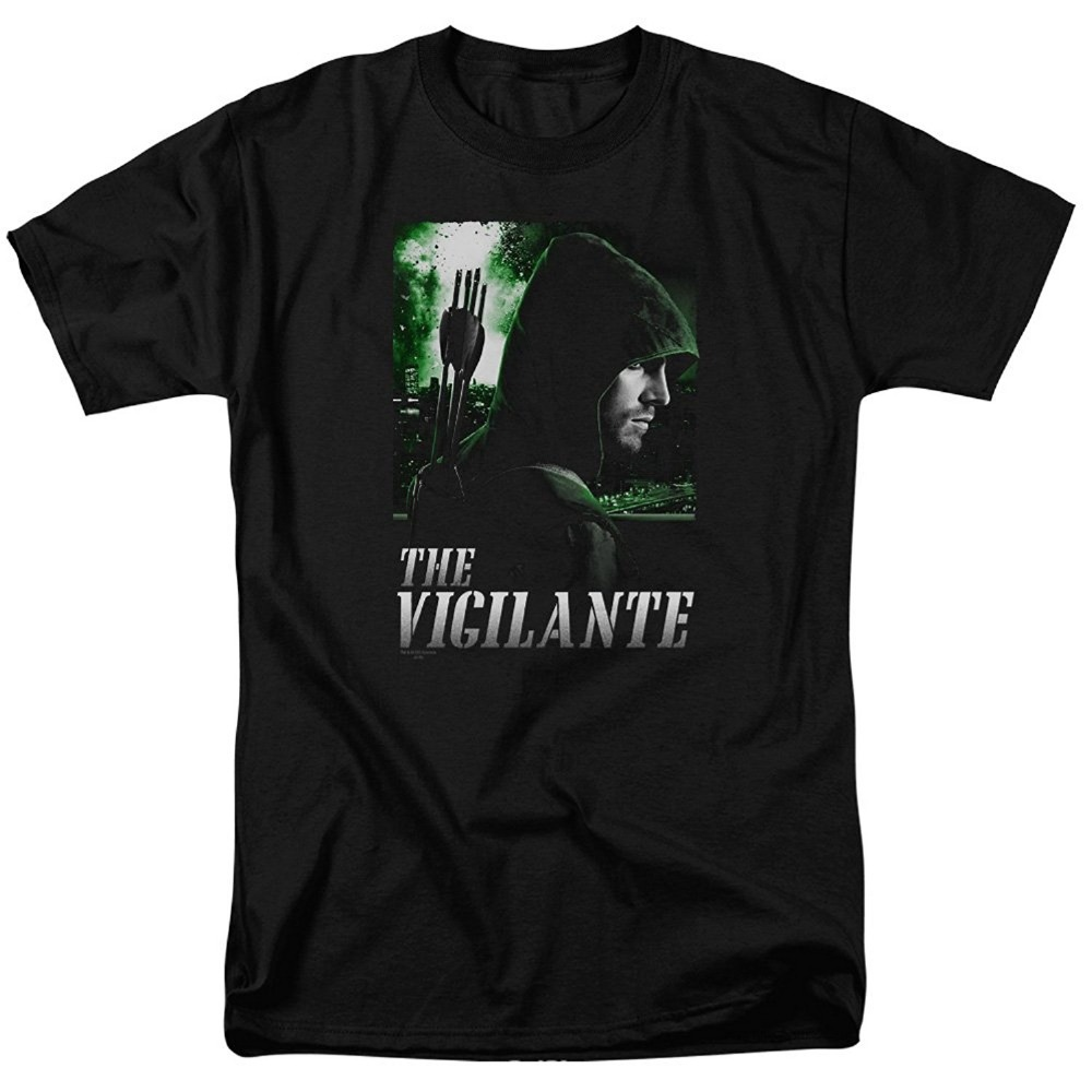 New Arrival Man Printed T-Shirt Arrow TV Show The Vigilante