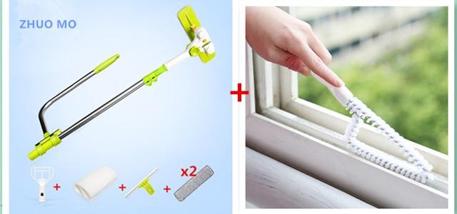 Brush set pour windows Multifonction de Grande hauteur fenêtre Crevasse brosse De Nettoyage de nettoyage outils hobot brosse pour laver les fenêtres