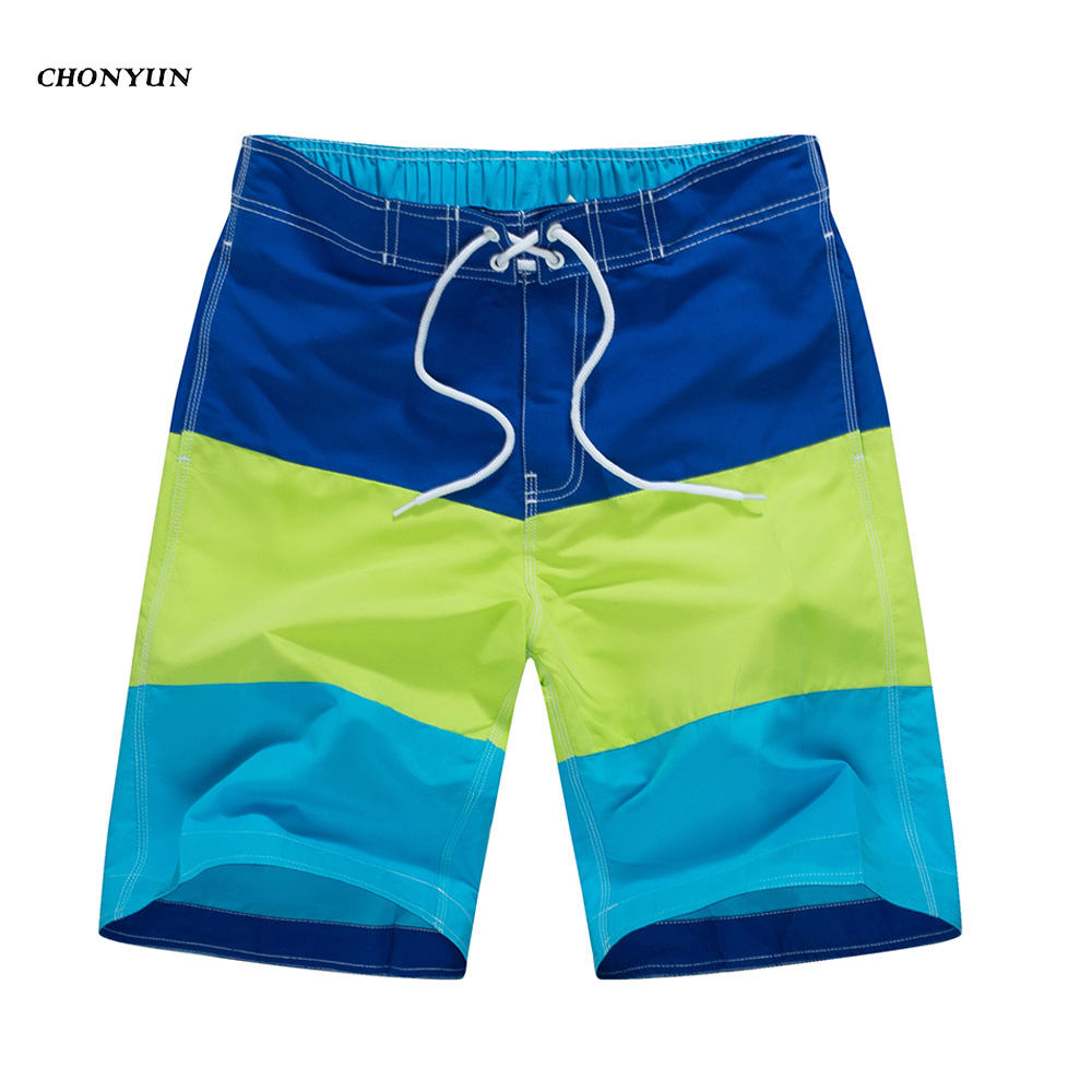 NEW Summer Beach Shorts For Men Swimming Surf Boardshort Bermuda Mens Swimsuit Quick Drying Striped Swimwear 2019 Drop Shipping