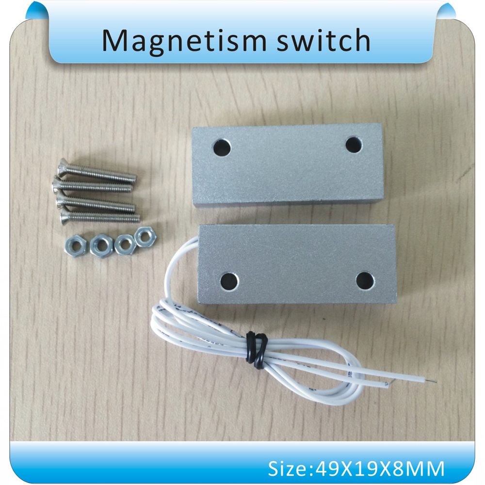 NC Type Aluminum alloy Wired Door Window Sensor Magnetic Switch Home Alarm System Detector free shipping 1pcs wired door window sensor 330mm wire lengthen randomly magnetic switch home alarm system normally closed nc